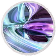 Grapes And Cream Abstract Round Beach Towel