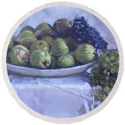 Grapes And Figs At Lida's Round Beach Towel