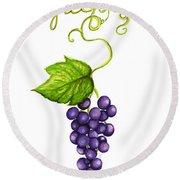 Grapes Round Beach Towel