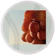 Grapes Cluster Round Beach Towel