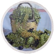 Grapes From Kostas Garden Round Beach Towel