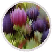 Grapes In The Rain Round Beach Towel by Adria Trail