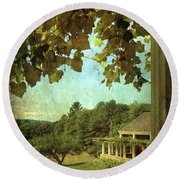 Grapes On Arbor  Round Beach Towel