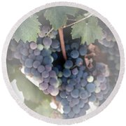 Grapes On The Vine I Round Beach Towel