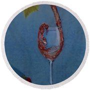 Grapes To Wine Round Beach Towel