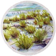 Grass 2 Round Beach Towel