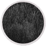 Grass Black And White Round Beach Towel