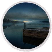 Grass Creek Sunrise 1 Round Beach Towel