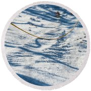 Grass Scapes In The Sand Round Beach Towel