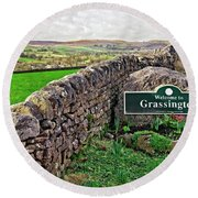 Grassington, Yorkshire Dales Round Beach Towel