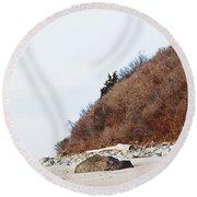 Grassy Dune Round Beach Towel