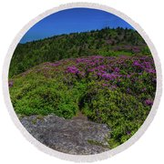Grassy Ridge Awaits Round Beach Towel
