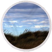 Round Beach Towel featuring the photograph Grassy Ridge by Kenneth Campbell