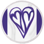 Grateful Heart Thoughtful Heart Round Beach Towel
