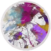 Round Beach Towel featuring the digital art Grateful To Be by Margie Chapman