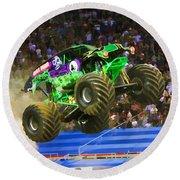 Grave Digger 7 Round Beach Towel