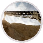 Gravel Mountain 2 Round Beach Towel