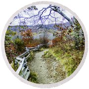 Graveyard Fields Trail Round Beach Towel