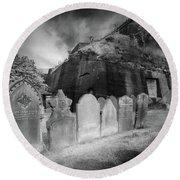 Graveyard,liverpool Round Beach Towel