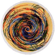 Gravity In Color Round Beach Towel