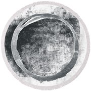 Gray Enso Round Beach Towel
