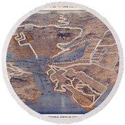 Gray Line Motor Tours - San Francisco - Motor Routes Around Sanfran, Berkeley, Oakland Round Beach Towel