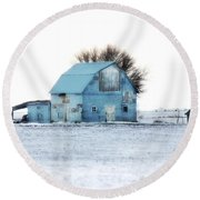 Round Beach Towel featuring the photograph Grays by Julie Hamilton