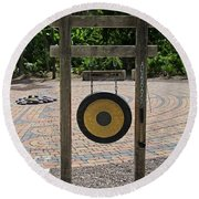 Round Beach Towel featuring the photograph Great Antiquity by Michiale Schneider
