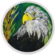 Great Bald Eagle Round Beach Towel