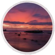 Great Beyond Round Beach Towel