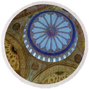 Great Blue Dome Round Beach Towel