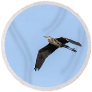 Great Blue Heron 2017-5 Round Beach Towel by Thomas Young