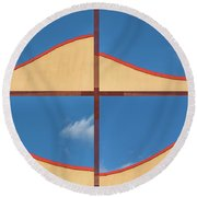 Great Curves -  Round Beach Towel