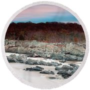 Great Falls Apres Sandy Round Beach Towel