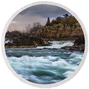 Great Falls Virginia Round Beach Towel