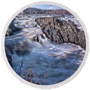 Great Falls Virginia Round Beach Towel by Suzanne Stout