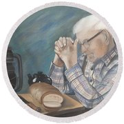 Great Grandpa Round Beach Towel by Jacqueline Athmann