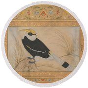 Great Hornbill Round Beach Towel by Celestial Images