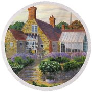 Great Houghton Cottage Round Beach Towel