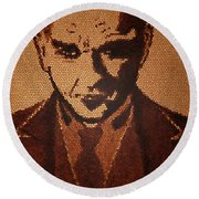 Great Mustafa Kemal Ataturk  Round Beach Towel