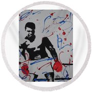 Great Ones Live On Round Beach Towel