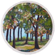 Great Outdoors Round Beach Towel