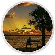 Great Pocket Sunrise Round Beach Towel