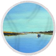 Great Pond, Edgartown Round Beach Towel