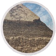 Round Beach Towel featuring the photograph Great Pyramid Of Giza by Silvia Bruno
