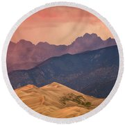 Great Sand Dunes Colorado Round Beach Towel