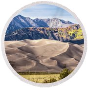 Great Sand Dunes Of Southern Colorado Round Beach Towel