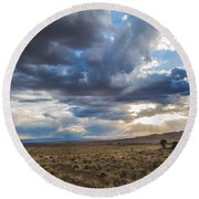 Great Sand Dunes Stormbreak Round Beach Towel