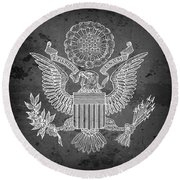 Great Seal Of The United States Of America Round Beach Towel