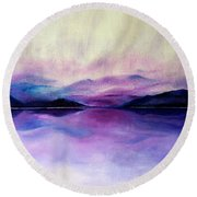 Great Smoky Lakeside Round Beach Towel